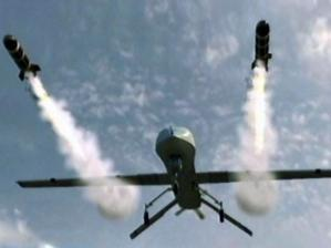 A Predator drone at work