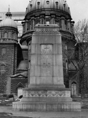 The Cenotaph in Dominion Square